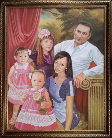 Семейный портрет маслом в Тбилиси — правильная традиция…
