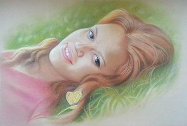 Настоящий портрет пастелью для любимой девушки в Тбилиси, просто и со вкусом!