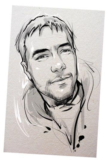 Портрет карандашом любимому мужу в Тбилиси…