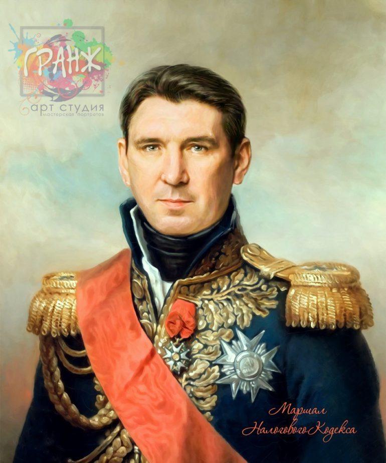 Портрет по фото на холсте в подарок мужчине на 23 февраля Тбилиси