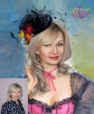 Заказать арт портрет по фото на холсте в Тбилиси