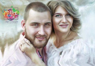 Где заказать портрет по фотографии на холсте в Тбилиси?