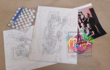 Картина по номерам по фото, портреты на холсте и дереве в Тбилиси
